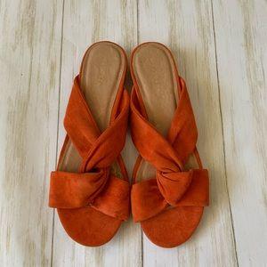 NWOT Halogen Andre slide sandal